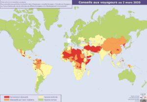 carte pays à risques